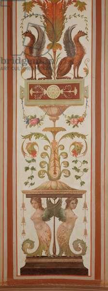 Decorative wall panel border in Potemkin's Study designed by Jacopo Ferrari (1747-1807) (photo)