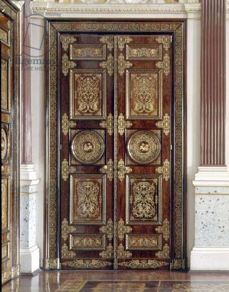 Pair of inlaid rosewood doors in the Gala Reception Room designed by Andrei Stakenschneider (1802-65) (photo)