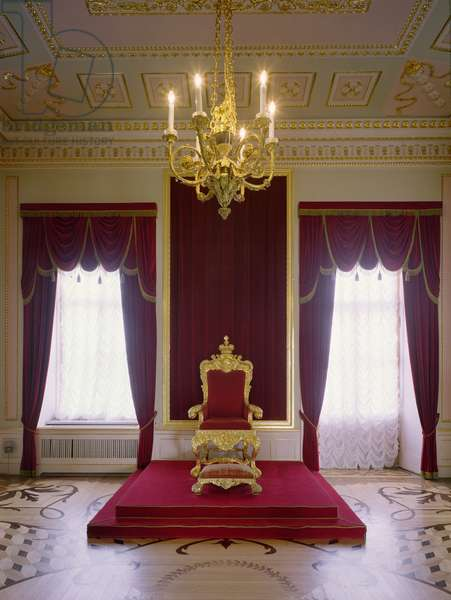The Throne Room of Paul I designed by Vincenzo Brenna (1747-1819) (photo)