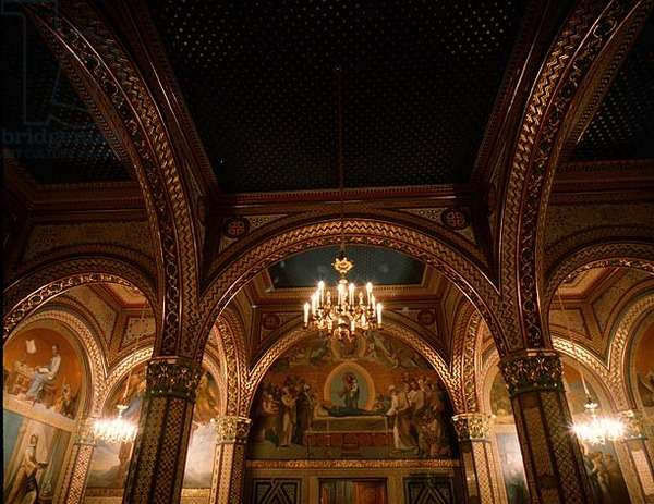 The Church of St. Nicholas with biblical scenes designed by Prince Grigory Gagarin (1810-93) (photo)