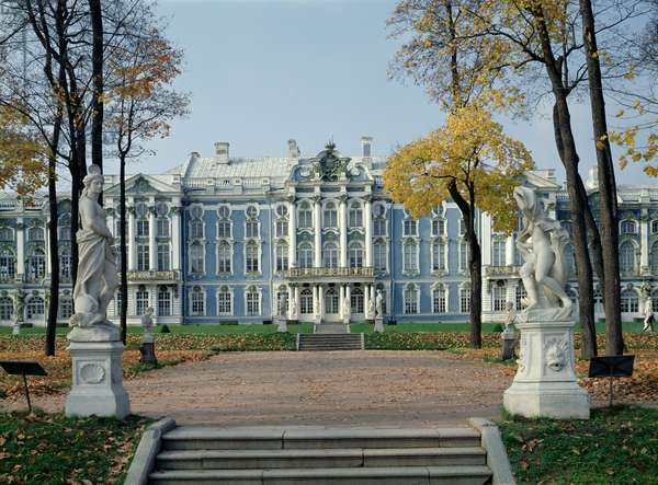 Central section of the east facade of the Catherine Palace (photo)