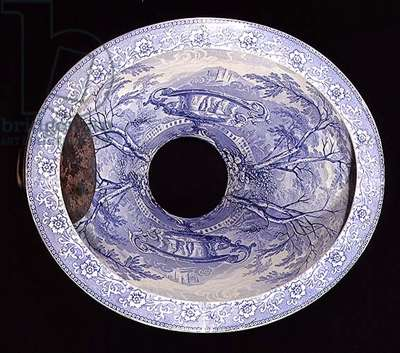 Staffordshire Blue and white pattern toilet pan (ceramic)