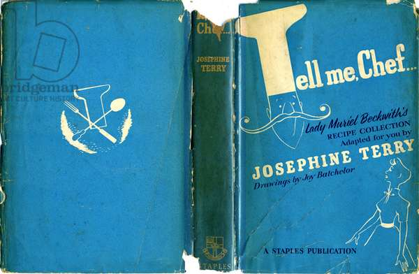 Front cover of 'Tell Me Chef' by Josephine Terry, published by Faber and Faber, 1951 (colour litho)