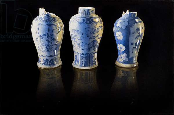 Broken Chinese vases (w/c on paper)