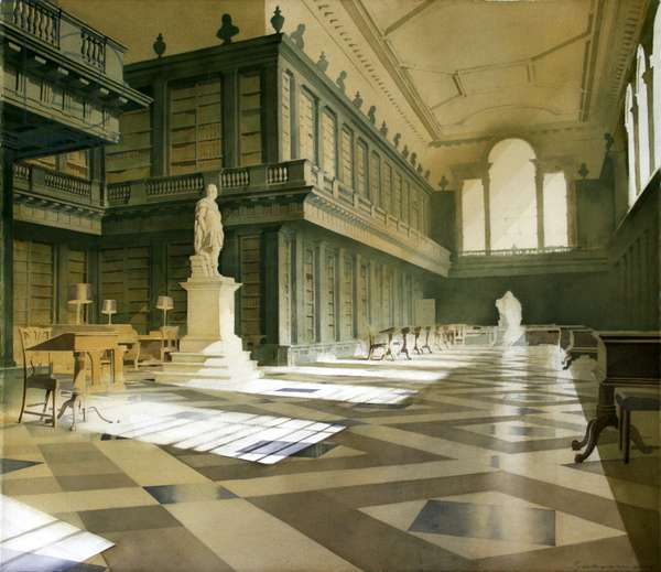 The Codrington Library, All Souls, Oxford (w/c on paper)