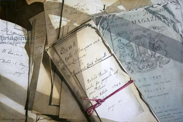 Traquair Still Life (w/c on paper)