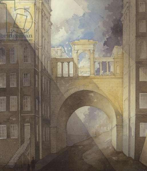 Regent Bridge, Edinburgh (w/c on paper)