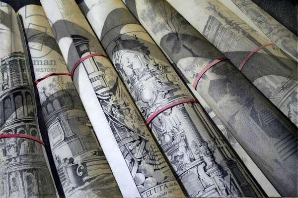 Piranesi Prints (w/c on paper)