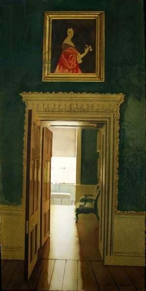 Interior at Kedleston (w/c on paper)