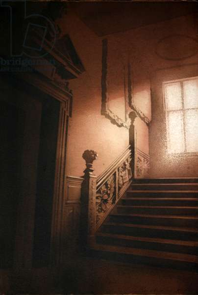 The Staircase, Ham House I (w/c on paper)