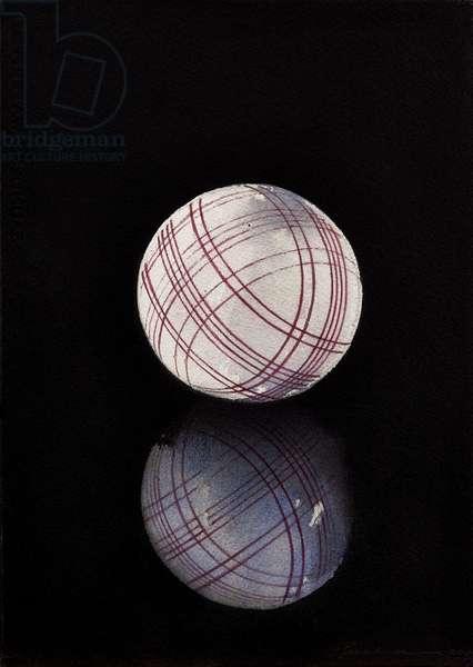 Carpet bowl (study) (w/c on paper)