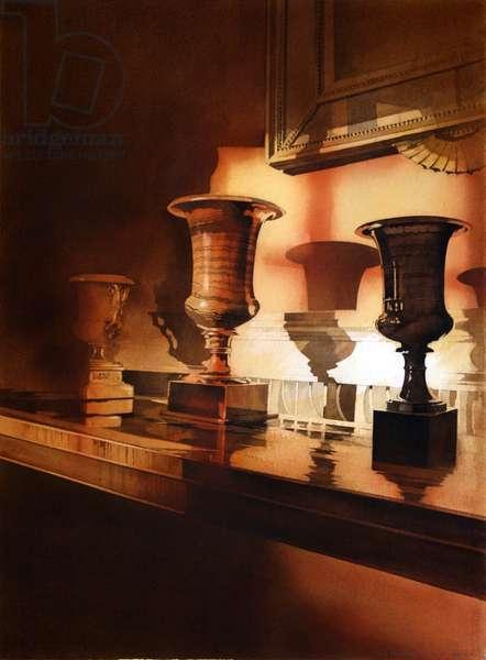 Feldspar Urns at Lauriston Castle (w/c on paper)
