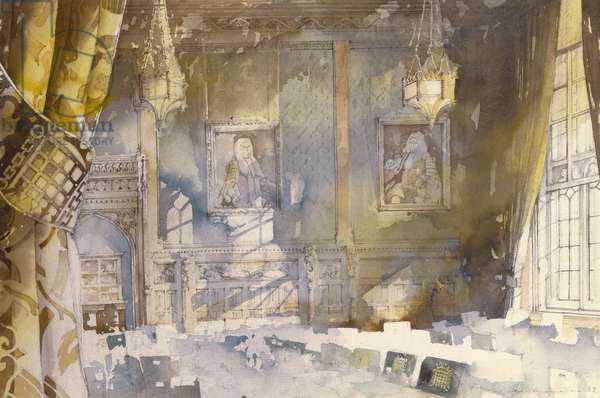 The Members' Dining Room, House of Commons, 1988 (w/c on paper)