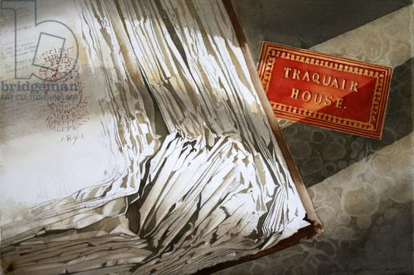 Journals at Traquair (w/c on paper)