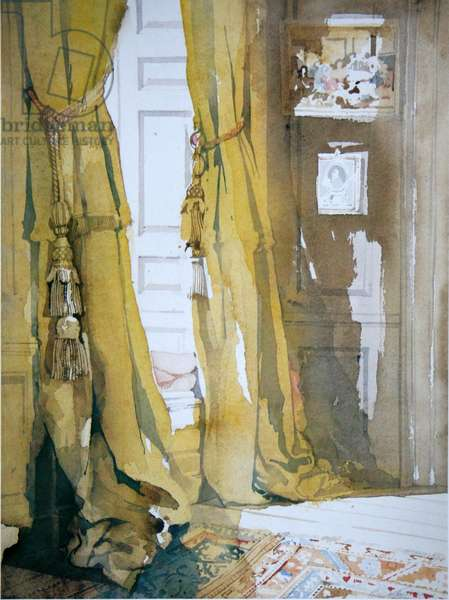 The Yellow Curtains (w/c on paper)
