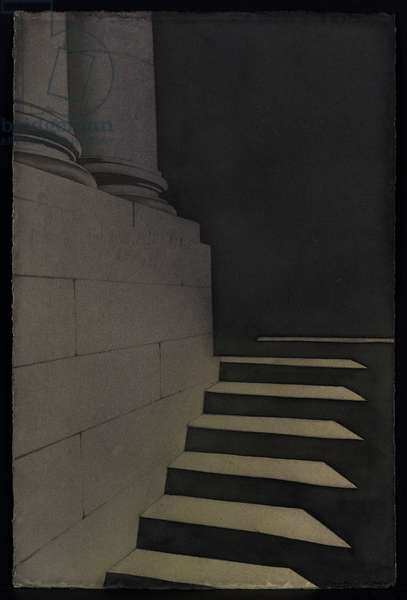 Old College Steps Study (w/c on paper)