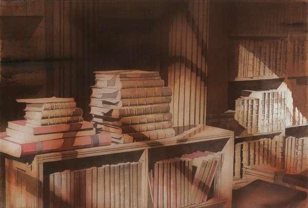 Siegfried's Books (w/c on paper)