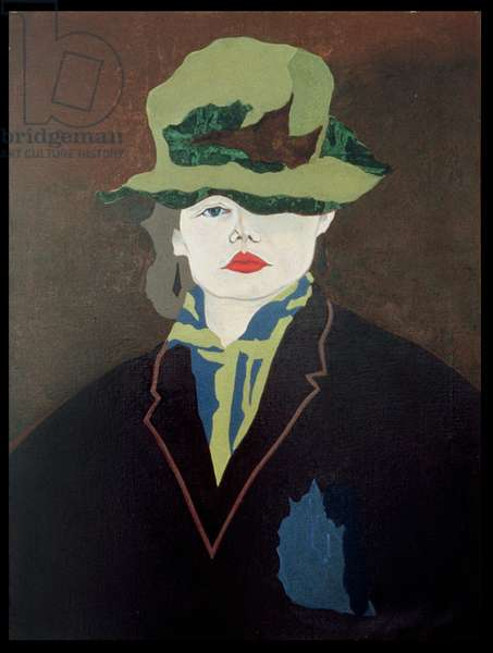 Girl in a Hat, 1979 (oil on linen)