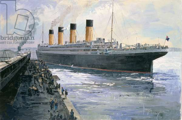 The Titanic Departing from Southampton, 10th April 1912, 1992 (oil on canvas)