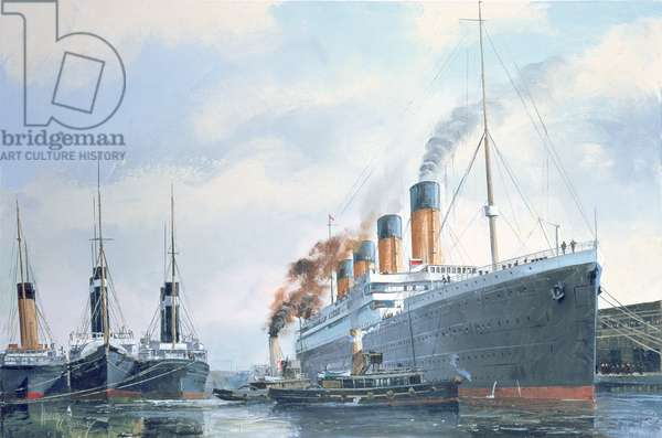 Preparing for Departure from Southampton in 1912, 1996 (oil on canvas)
