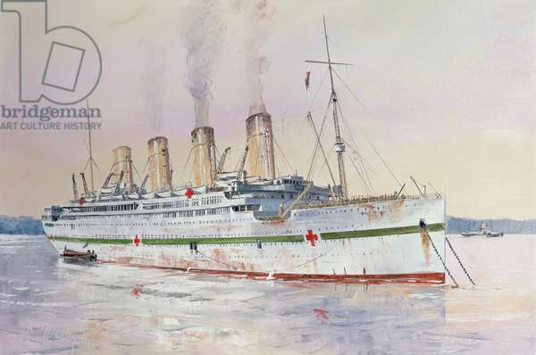 The Britannic (1) Moored at Netley, 1985 (oil on canvas)