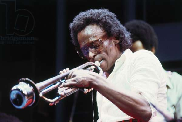 Miles Davis with muted