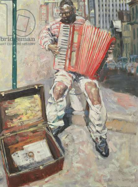 Accordion Player, 1999 (oil on canvas)