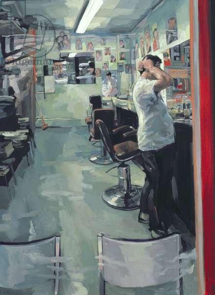 Barber Shop, 1989 (oil on canvas)