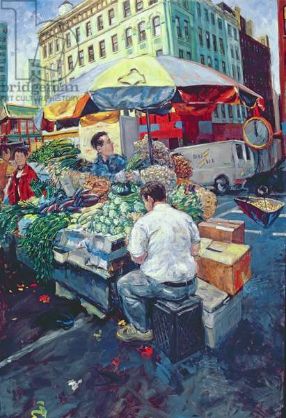 Chinese Vegetable Stall, 2000 (oil on canvas)