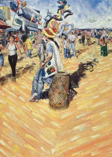 Balloon Seller, Coney Island, 2000 (oil on canvas)