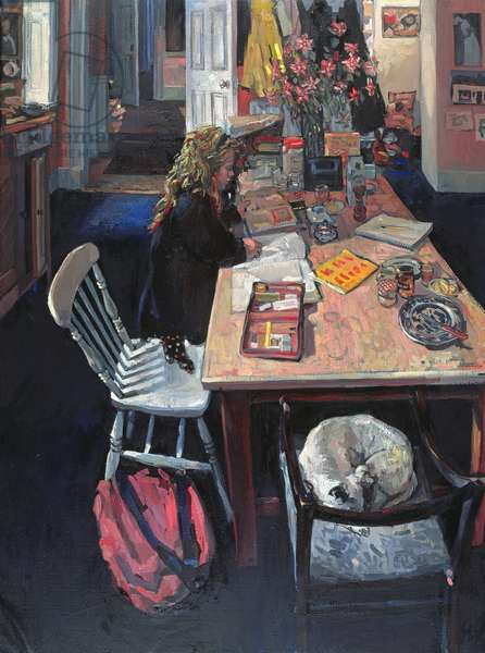Violet in the Kitchen, 1995 (oil on canvas)