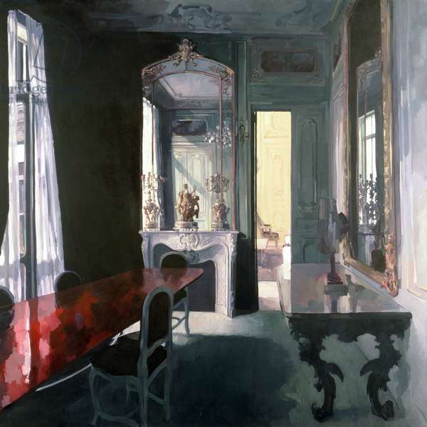 Apartment at 12 Place Vendome, 1987 (oil on canvas)