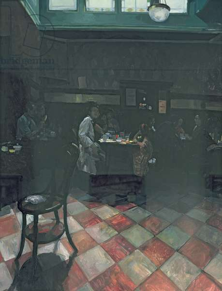 Bewley's Cafe, 1989 (oil on canvas)