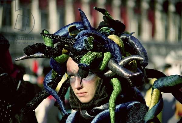 Medusa, a Venice Carnival mask, 1994 (photo)