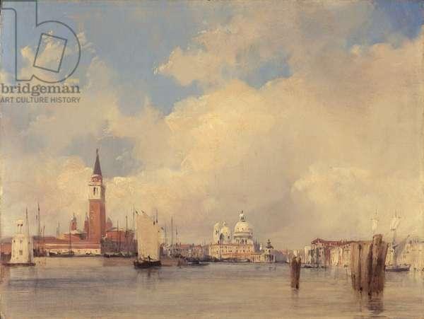 View in Venice, with San Giorgio Maggiore, 1826 (oil on canvas)
