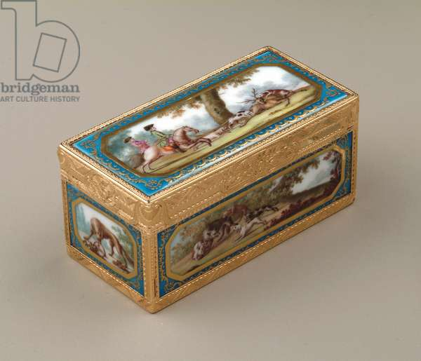 Snuffbox, c.1760 (gold with Sevres porcelain)