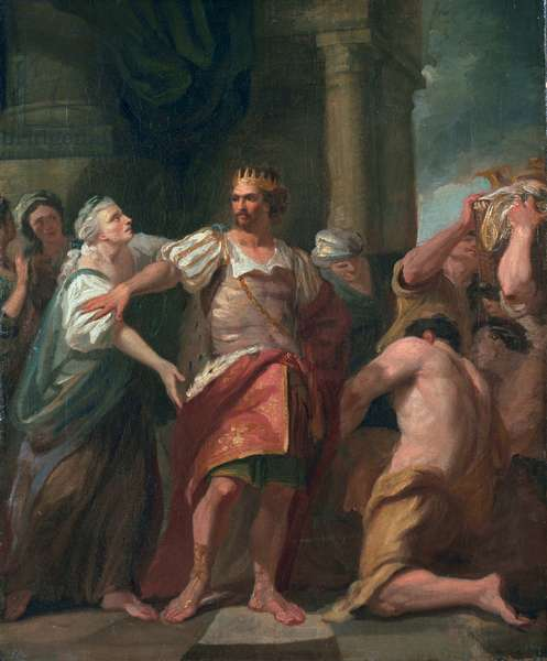 Edward the Confessor Stripping his Mother of Her Effects, c.1763 (oil on canvas)
