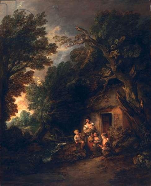 Cottage Door, c.1780 (oil on canvas)