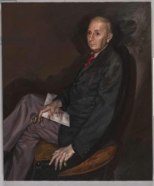 Portrait of E. Maurice Bloch, 1971 (oil on canvas)