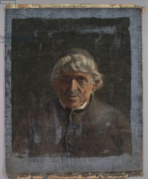 Portrait of an elderly priest, c.1884 (oil on canvas)