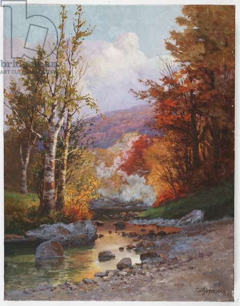 Autumn in the Berkshires, c.1919 (oil on canvas)