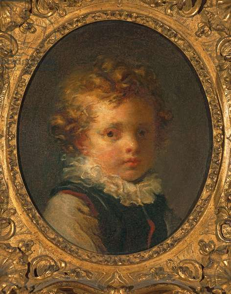 Head of a boy (Alexandre-Evariste 'Fanfan' Fragonard), c.1785 (oil on card)