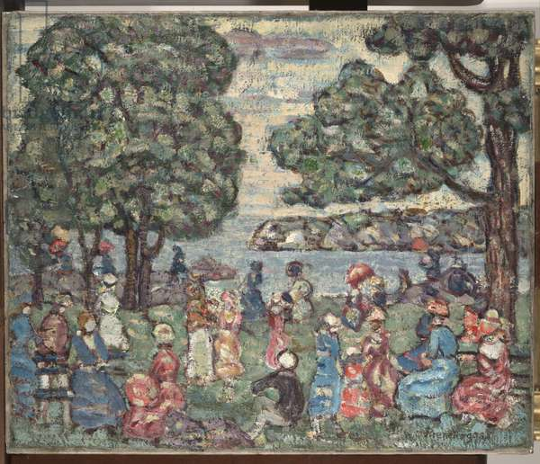 Park Scene, 1915 (oil on canvas)