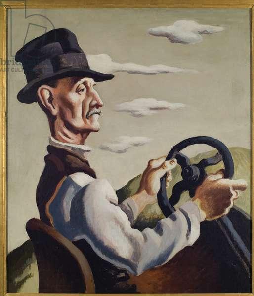 The Yankee Driver, 1923 (oil on canvas)