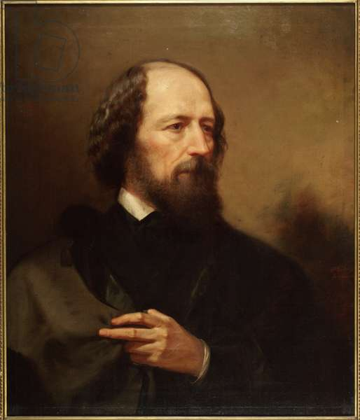 Alfred, Lord Tennyson (oil on canvas)