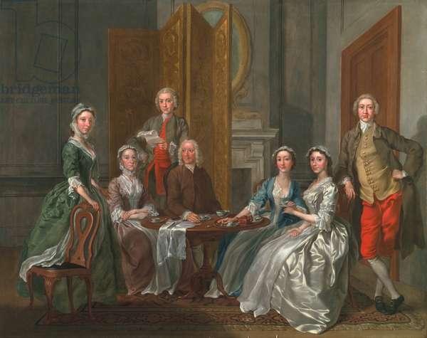 The Gascoigne Family, c.1740 (oil on canvas)