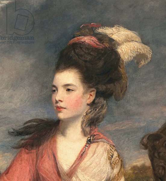 Jane Fleming, later Countess of Harrington, c.1778-79 (oil on canvas) (detail of 373099)