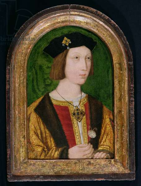 Portrait of Arthur, Prince of Wales, c.1499 (oil with gold leaf on panel)