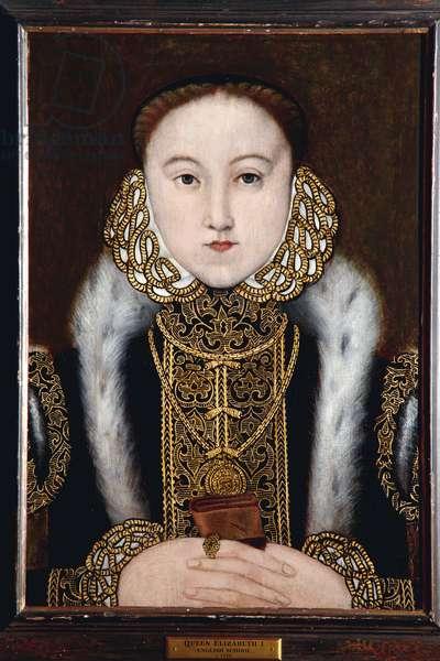 Elizabeth I, c.1558 (oil on oak panel)