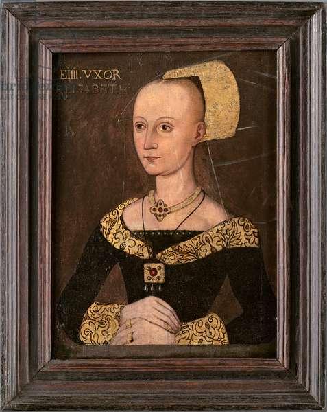 Elizabeth Woodville, c.1540-70 (oil on oak panel)
